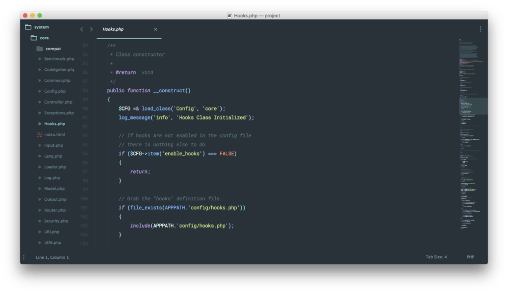 Material Design Sublime Text Screenshot