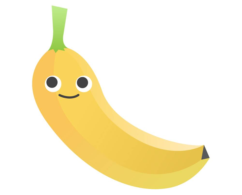 Banana Vector Gradient Colors